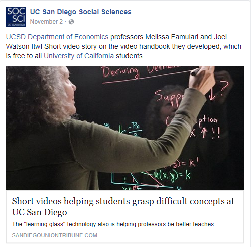 Short videos helping students grasp difficult concepts at UC San Diego