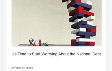 Valerie Ramey in the Wall Street Journal